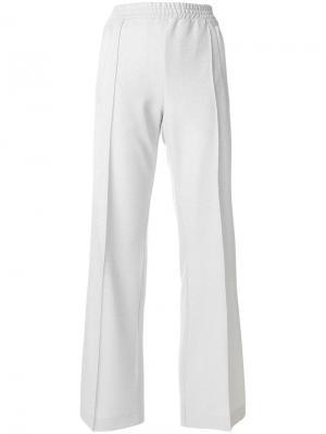 Расклешенные брюки с эластичным поясом Dondup. Цвет: серый