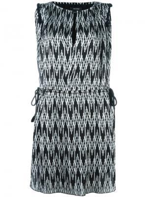 Платье с зигзагообразным принтом Isabel Marant. Цвет: чёрный