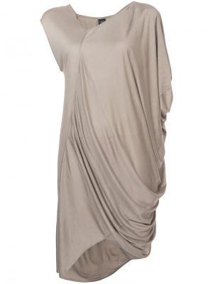 Asymmetric draped top Zero + Maria Cornejo. Цвет: телесный