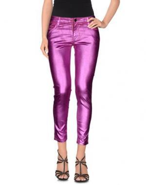 Джинсовые брюки-капри 75 FAUBOURG. Цвет: фуксия