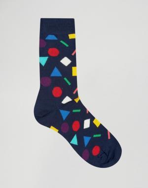 Happy Socks Носки. Цвет: синий