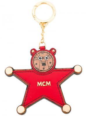 Брелок в форме звезды MCM. Цвет: красный