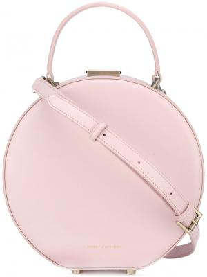 Сумка-тоут Hatbox Tammy&Benjamin. Цвет: розовый и фиолетовый
