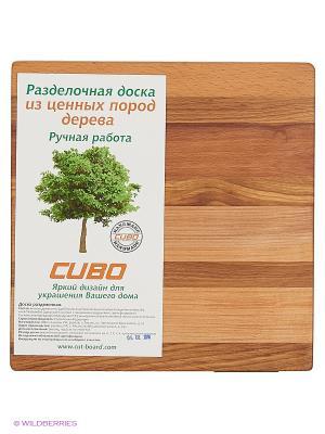 Доска разделочная Фантазия мини CUBO. Цвет: светло-коричневый, темно-бежевый