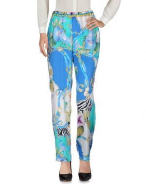 Повседневные брюки MARTA PALMIERI. Цвет: лазурный
