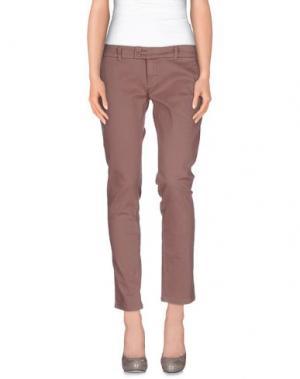 Повседневные брюки DUCK FARM. Цвет: светло-коричневый