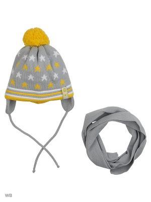 Шапка и шарф Grans. Цвет: желтый
