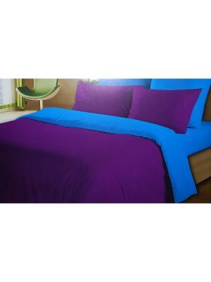Комплект постельного белья La Pastel. Цвет: синий, фиолетовый