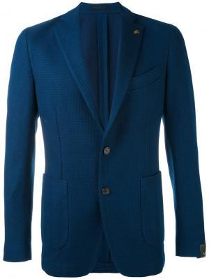 Пиджак с накладными карманами Gabriele Pasini. Цвет: синий