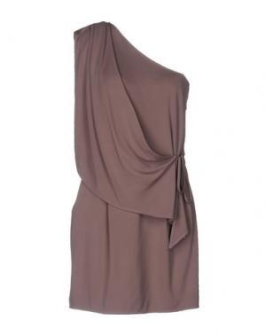 Короткое платье ELISABETTA FRANCHI. Цвет: светло-коричневый