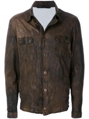 Куртка с нагрудными карманами Salvatore Santoro. Цвет: коричневый