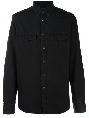 Джинсовая рубашка Ann Demeulemeester Grise. Цвет: чёрный