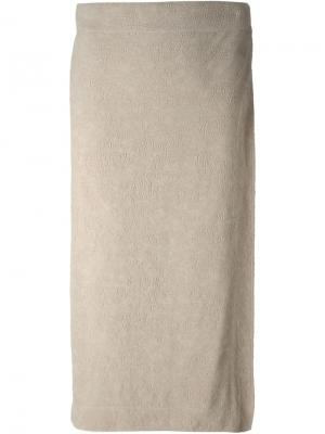 Юбка с запахом Jean Paul Gaultier Vintage. Цвет: телесный