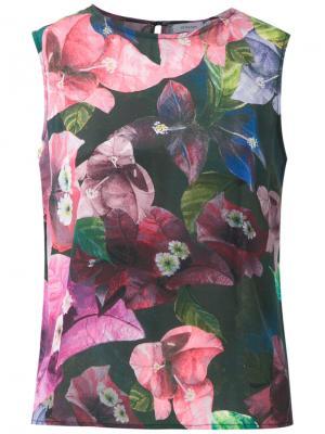 Silk blouse Isolda. Цвет: синий