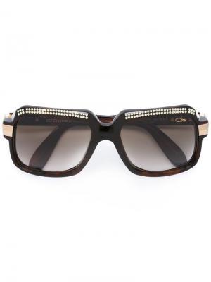 Солнцезащитные очки 607 Crystals Limited Edition Cazal. Цвет: коричневый