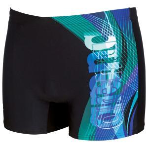 Шорты пляжные MaxFit® ARENA. Цвет: черный/бирюзовый