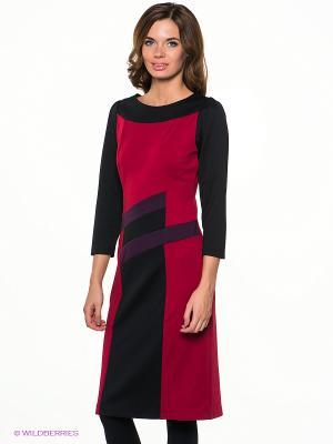 Платье МадаМ Т. Цвет: бордовый, фиолетовый, черный