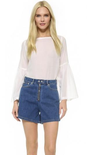 Воздушная блуза Cami Rodebjer. Цвет: белый