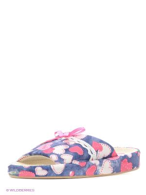 Тапочки LAMALIBOO. Цвет: бледно-розовый, кремовый