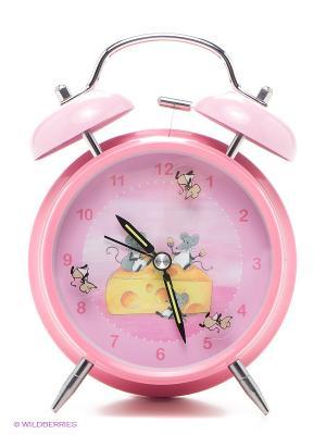Часы-будильник Мышка EGMONT. Цвет: розовый