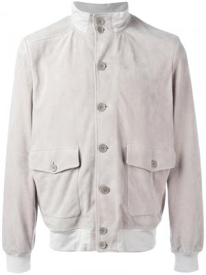 Куртка на пуговицах Cruciani. Цвет: телесный