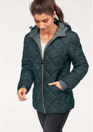 Стеганая куртка BOYSENS BOYSEN'S. Цвет: зелено-синий