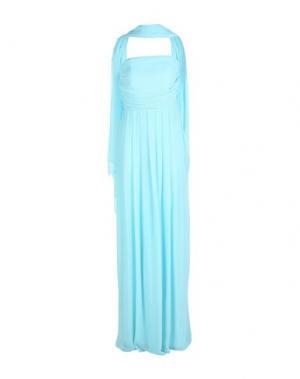 Длинное платье MUSANI COUTURE. Цвет: светло-зеленый