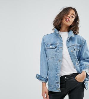 ASOS Petite Синяя выбеленная джинсовая куртка. Цвет: синий