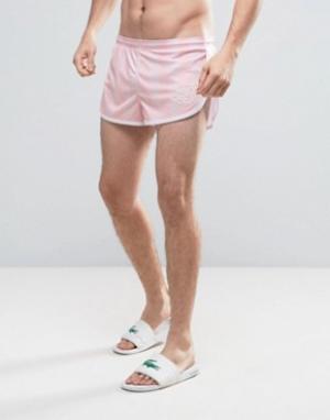 SikSilk Розовые шорты для плавания в стиле ретро. Цвет: розовый