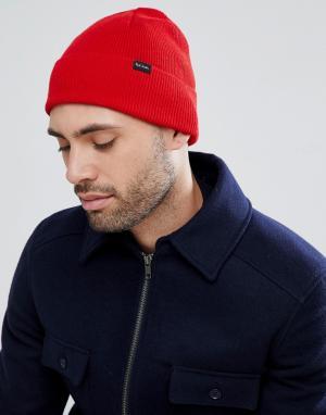 PS Paul Smith Красная шапка-бини. Цвет: красный