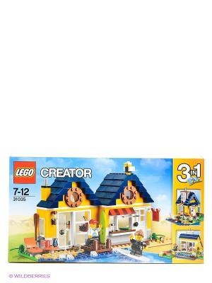 Игрушка Криэйтор Домик на пляже, номер модели 31035 LEGO. Цвет: желтый, белый, синий