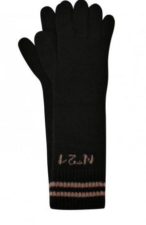 Шерстяные перчатки No. 21. Цвет: черный