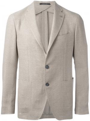 Однобортный пиджак Tagliatore. Цвет: телесный