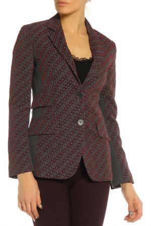 Пиджак SFIZIO. Цвет: черный, бордовый, ромбы
