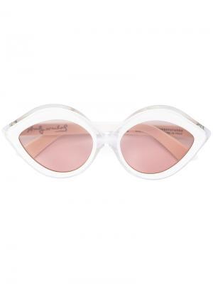 Солнцезащитные очки в оправе кошачий глаз Retrosuperfuture. Цвет: белый