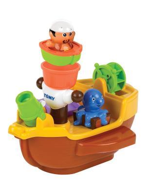Пиратский корабль для ванной TOMY.. Цвет: белый