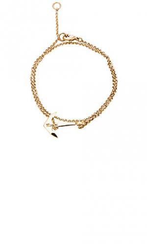 Браслет mini anchor chain Miansai. Цвет: металлический золотой