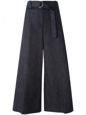 Укороченные широкие брюки Maison Margiela. Цвет: синий