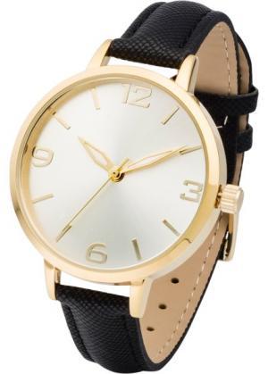 Наручные часы (черный/золотистый) bonprix. Цвет: черный/золотистый
