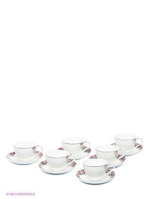 Чайный набор на 6 персон Каприз Примадонны (Pavone) Pavone. Цвет: белый, розовый
