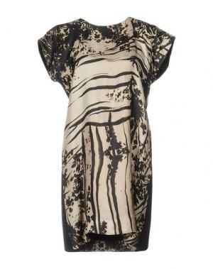 Короткое платье ALICE SAN DIEGO. Цвет: бежевый