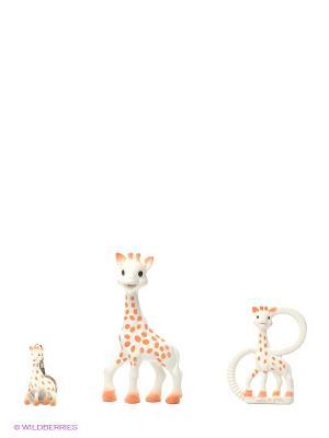Подарочный набор Жирафик Софи Sophie la girafe. Цвет: белый, бежевый