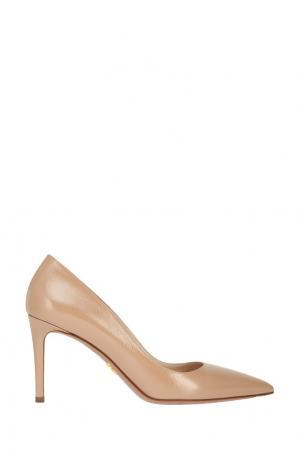 Кожаные туфли Prada. Цвет: none