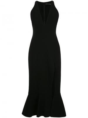 Расклешенное платье шифт David Koma. Цвет: чёрный