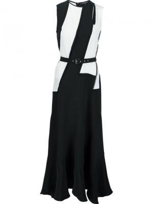 Платье с контрастным поясом Derek Lam. Цвет: чёрный