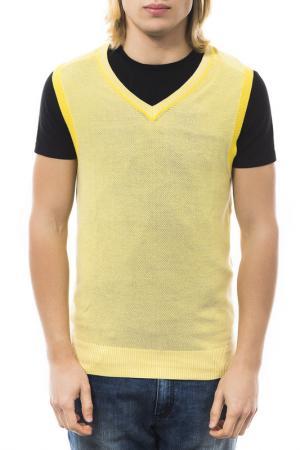 Пуловер Gas. Цвет: желтый