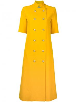 Удлиненное пальто Temperate Macgraw. Цвет: жёлтый и оранжевый