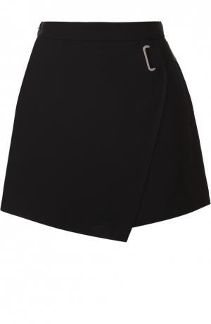 Короткая юбка-шорты с поясом Carven. Цвет: черный