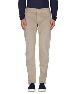 Джинсовые брюки CARE LABEL. Цвет: песочный
