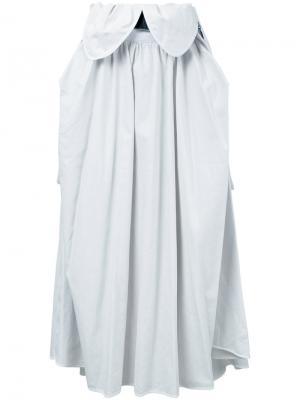 Плиссированная юбка миди Maticevski. Цвет: белый